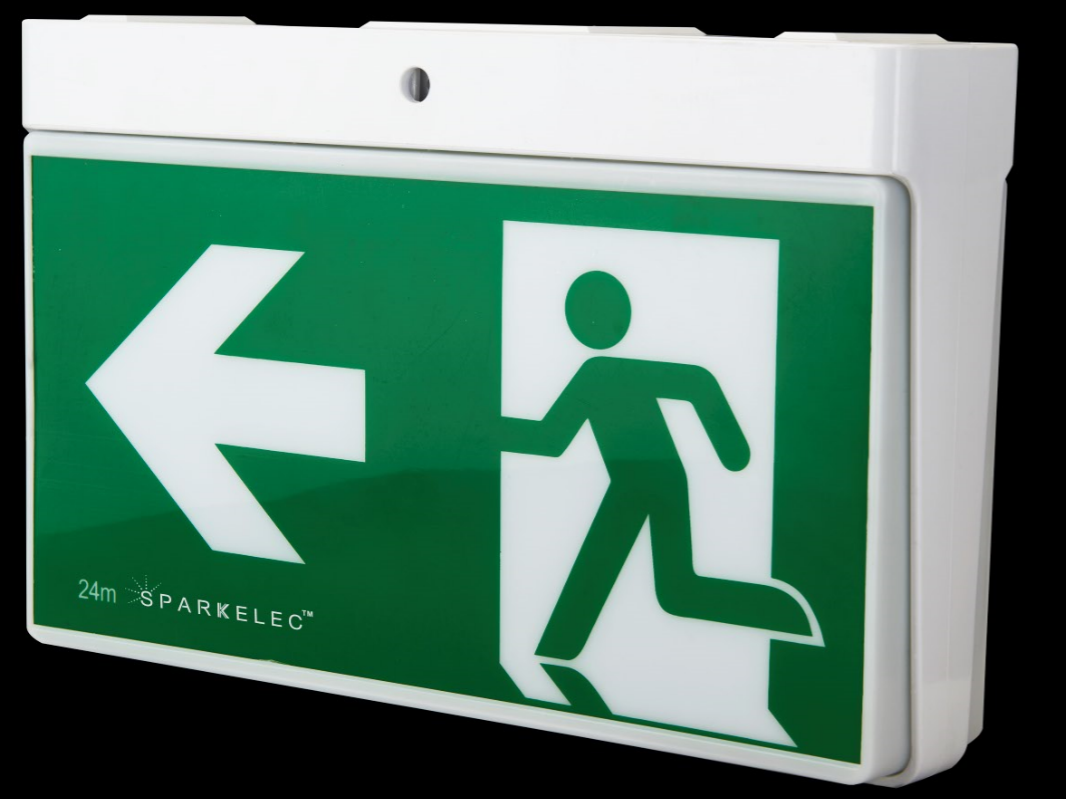 sparkelec universal wall  u0026 ceiling mount led exit sign