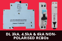 DL 3kA,4.5kA & 6kA NON-POLARISED RCBOs