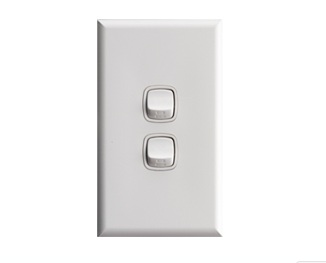 2 gang switch white - hpm xl770/2