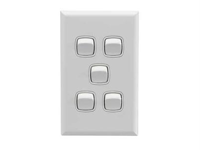 5 gang switch white - hpm xl770/5