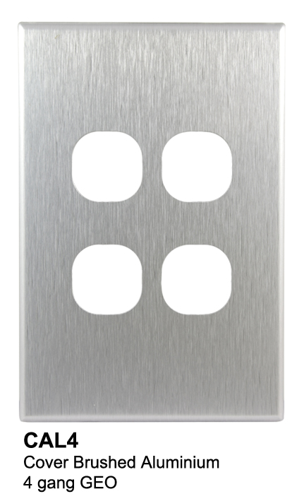 4 gang slimline aluminium geo cover - connected switchgear