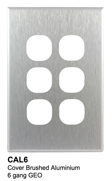 6 gang slimline aluminium geo cover - connected switchgear