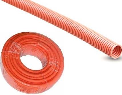 25mm x 25 metres orange corrugated conduit