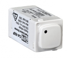 Hpm 450w universal push button dimmer white - 450pmwe