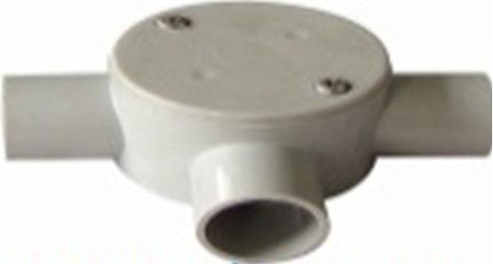 20mm three way shallow junction box grey