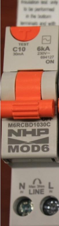 Nhp single pole safety switch 10a 30ma 6ka rcd mcb