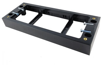 4 gang quad mounting block black - connected switchgear