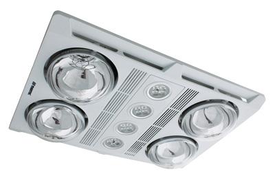 Martec pofile plus led - 4 heat bathroom heater - white mbhp4lw