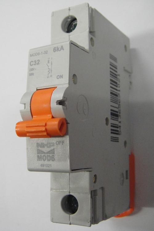 Nhp 1 pole mcb circuit breaker 32amp 6ka mod6