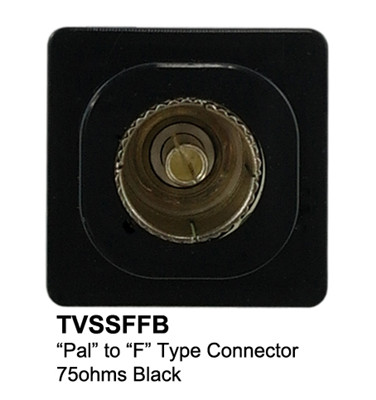Pal to f type tv black mechanism to fit connected wall plates