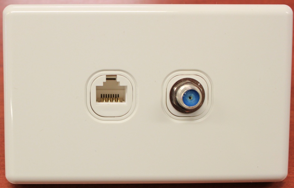 2 Gang Rj45 Data And Pay Tv Socket In Wall Plate
