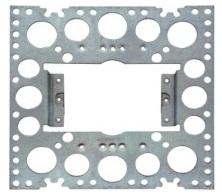Recessed render bracket for slimline power points