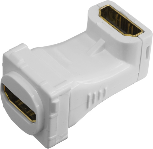 Hdmi insert right angle for clipsal, qce, connected, sparklec plates - white 05bc6r