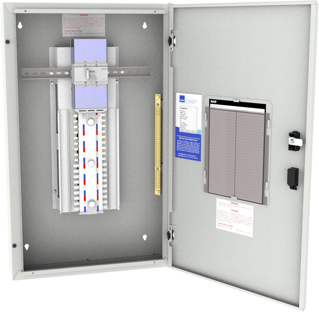 Nhp 48 Pole Concept One Panelboard With 250 Amp Main