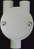 20mm y way shallow junction box