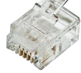 Cat5e & cat6 rj45 solid 8p8c male plug *100 pack* - cabac 0688rsl-c