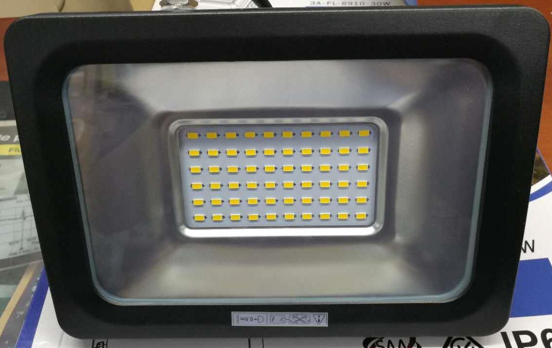 Slim 30w warm white led flood light ip65 weatherproof rating - fls30b/ww