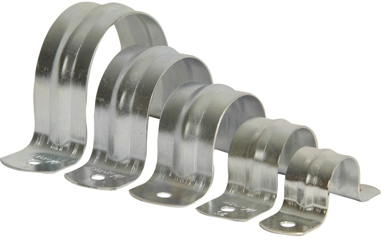 50mm metal full saddle with 6.5mm hole x 50 qty box