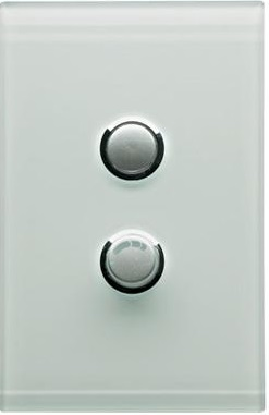 Clipsal saturn universal 450w dimmer with 2 gang plate complete - ocean mist 4062e450udn-om