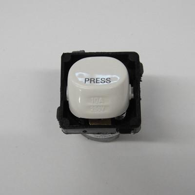 Clipsal Momentary Bell Press Mech White 30mbpr