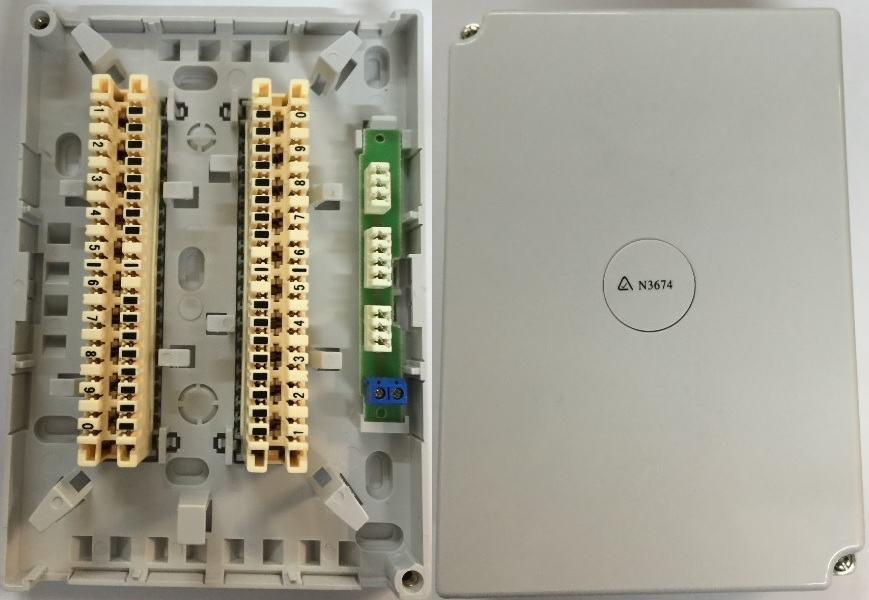20 Pair Mdf With Disconnect Module