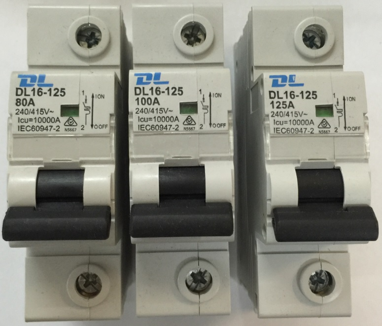Dl 1 Pole 125amp Circuit Breaker 10ka Rated Mcb1125