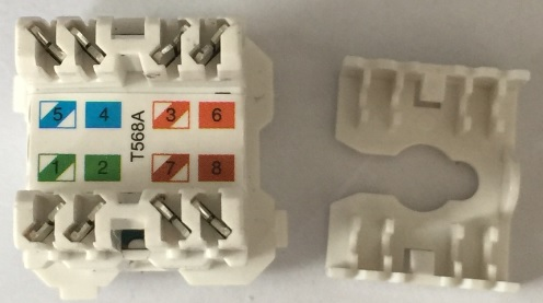 Sparkelec cat6 data jack white fits clipsal, qce, connected, hpm grid plates