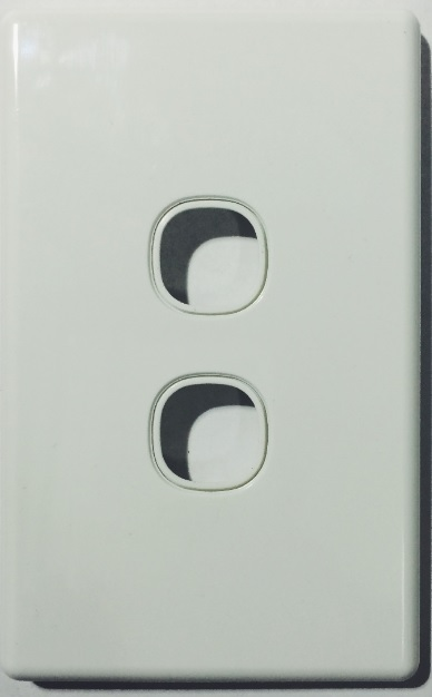 2 gang slimline switch plate white - 5 years replacement warranty