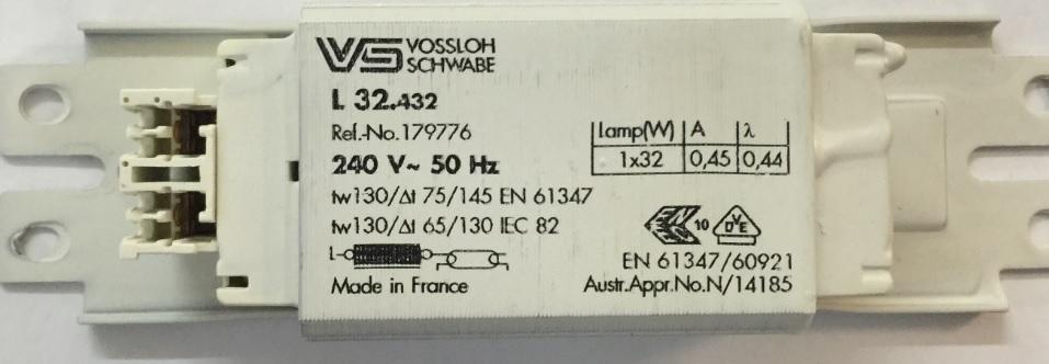 1x32w iron core ballast - vs l 32.432