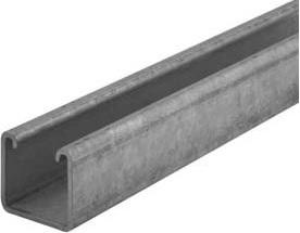 41mm x 21mm x 2.5mm thick - 3 metre length standard unistrut - 2741212.53