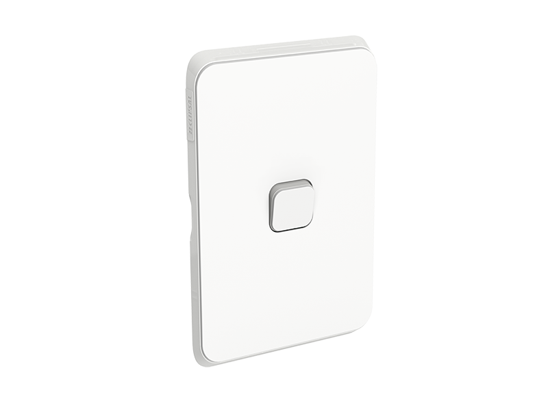 Clipsal iconic 1 gang vertical/horizontal skin cover only - vivid white 3041cvw