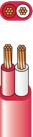 7/0.50 x 2c light duty flat sheath fire cable 200m drum - fc7502ld/200m