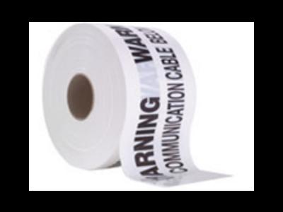 Communications Underground Warning Tape White 100mtr Roll